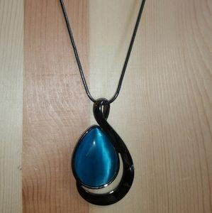 Lia Sophia Gun Metal Silver 'Deep Sea' Necklace